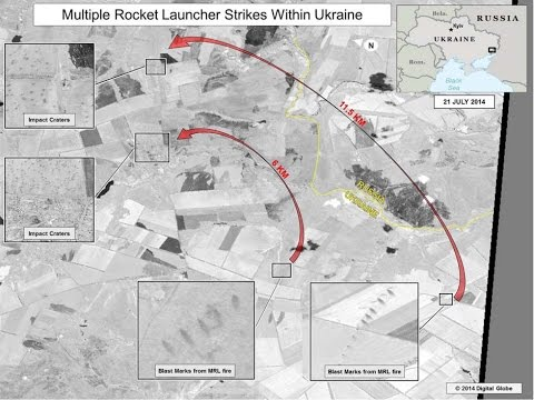 Satellite images prove Russia fired rockets into Ukraine after MH17 crash
