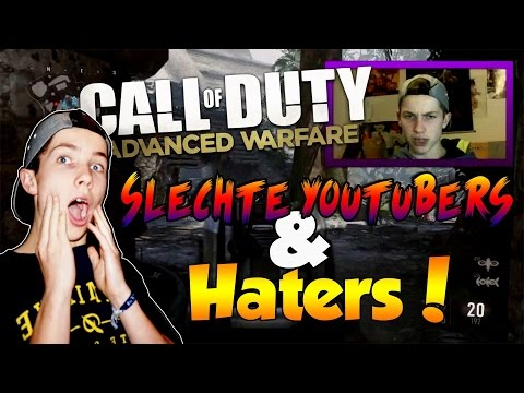 SLECHTE YOUTUBERS & HATERS | Advanced Warfare Live
