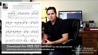 How to play the 12 bar blues on the piano (learn to improvise and play seventh chords the fun way)