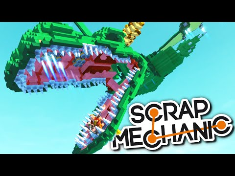 Scrap Mechanic CREATIONS - MILLENNIUM FALCON, MASSIVE DRAGON, HOVERBIKE + MORE!