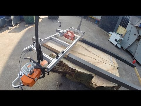 Dual ended chainsaw mill test cut