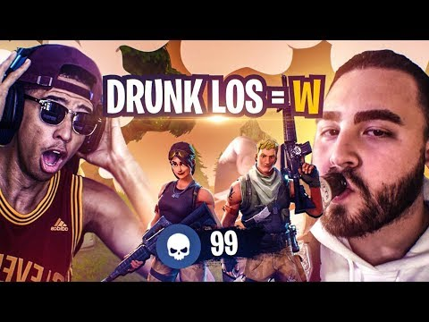 GETTING CARRIED BY DRUNK LOSPOLLOSTV! FUNNY MOMENTS! Fortnite Battle Royale thumbnail