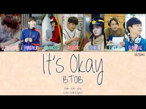 It's Okay (괜찮아요) - BTOB (비투비) [Han/Rom/Eng] Color Coded Lyrics