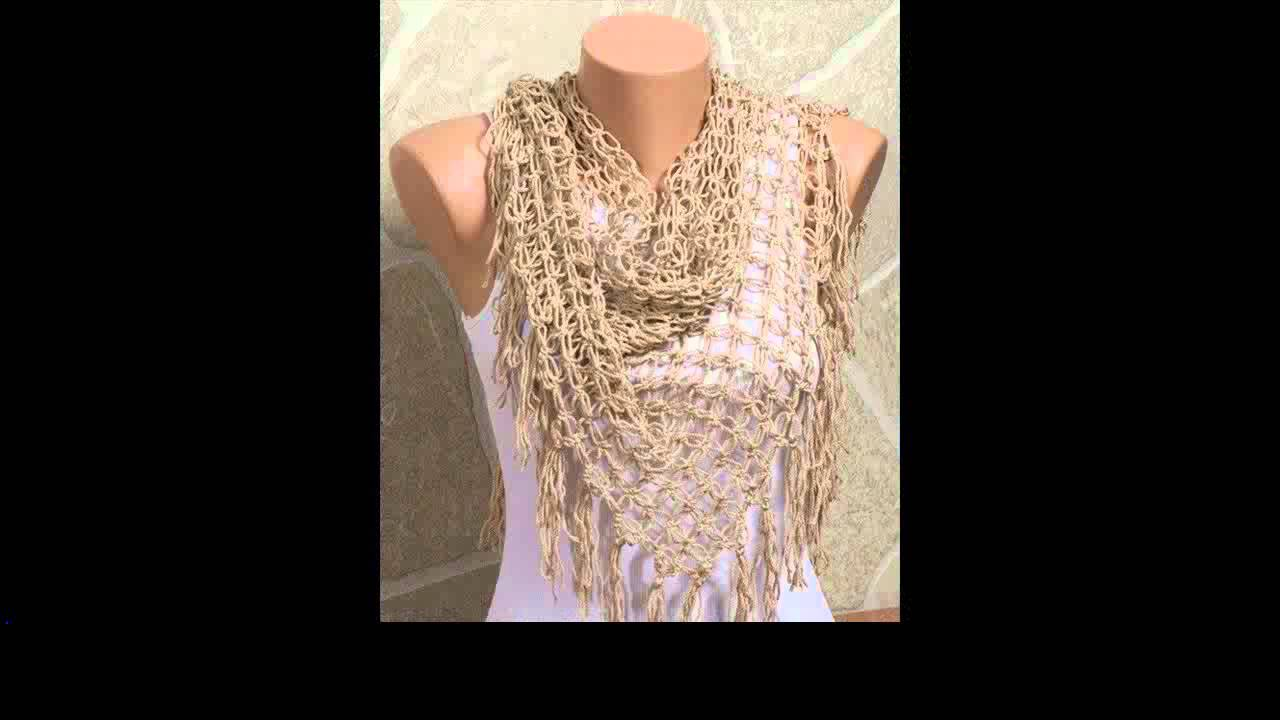 crochet infinity scarf pattern - YouTube