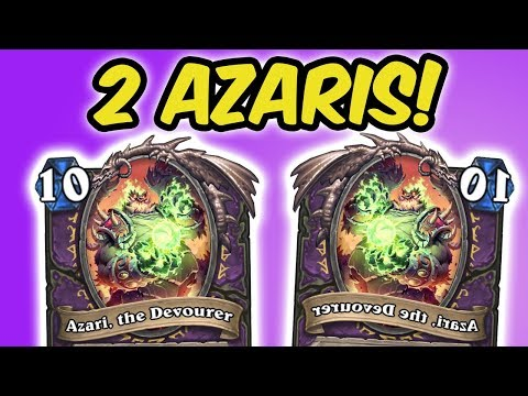 TWO AZARIS BLOWING EACH OTHER'S DECKS UP! | KOBOLDS AND CATACOMBS | HEARTHSTONE | DISGUISED TOAST