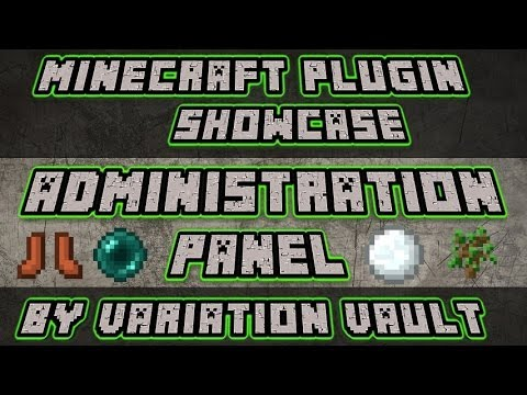 Minecraft Bukkit Plugin - Administration Panel - Admin GUI