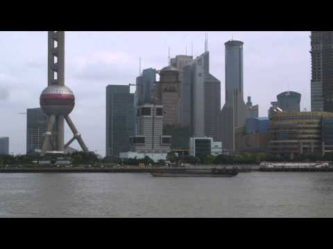 Shanghai skyline from across the Huangpu River