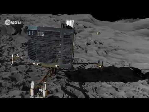 Philae Lander Rosetta Mission Landing on a Comet - Animation Video
