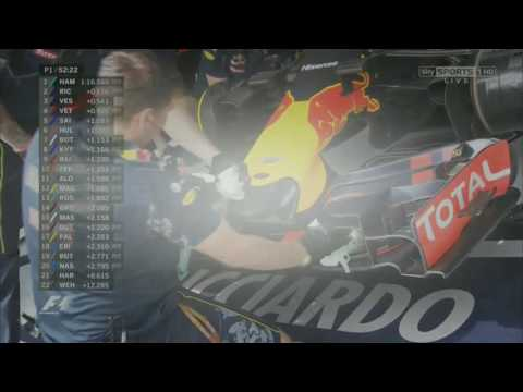 """Ricciardo gives Raikkonen the middle finger and calls him a """"cunt of a bloke"""" on the team radio"""
