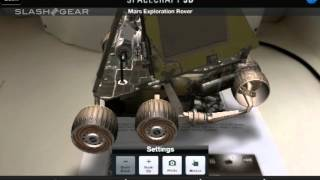 SpaceCraft 3D NASA app hands-on with augmented reality
