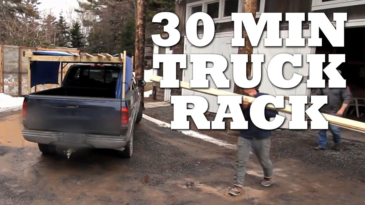 how to make a truck rack in 30 minutes or less youtube. Black Bedroom Furniture Sets. Home Design Ideas