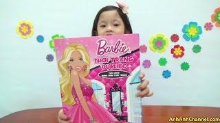 Búp bê giấy barbie, làm thủ công áo đầm dạ hội cho Barbie giấy - AnhAnhChannel.com (Táo đỏ)