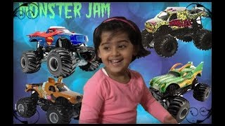 KID playing with Mamma-HotWheels Monster Jam Track