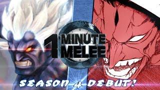 One Minute Melee S4 EP1 - Oni vs Kenpachi Round 3 (Street Fighter vs Bleach)