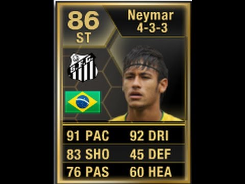 FIFA 13 IF NEYMAR 86 Player Review & In Game Stats Ultimate Team