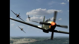 DCS: Burning Skies Server - Dogfight ww II Normandy 1944 [bf109 vs Spitfire / bf109 vs P51] [PvP]