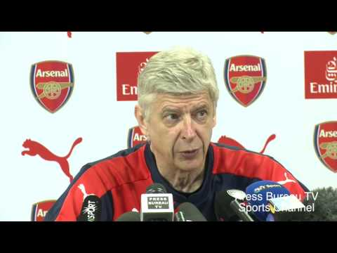 Arsene Wenger pre Arsenal vs Aston Villa