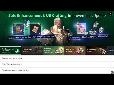 Lineage 2 Revolution New Enhance System & UR Recipes System Reviews
