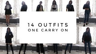 How To Pack A Carry On - 14 Outfits In Your Suitcase | Aja Dang