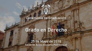 Graduación del Grado en Derecho · 25/05/2018