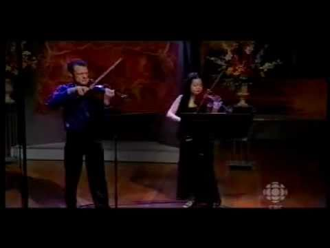 Jasper Wood and Judy Kang perform Prokofiev Duo for 2 violins (2nd mvmt)