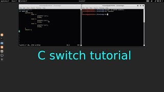 C Programming switch tutorial in Linux