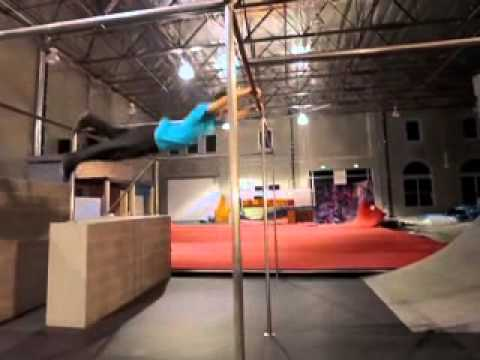 Luci Romberg Demonstrates Freerunning At The Tempest Academy
