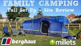 FAMILY CAMPING VLOG | FULL SET UP & SITE REVIEW | BERGHAUS AIR 6