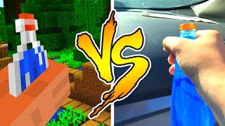 Minecraft VS REAL LIFE - Drinking Water