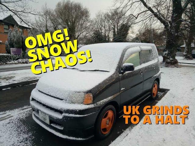 OMG Snow Chaos! UK grinds to a halt.