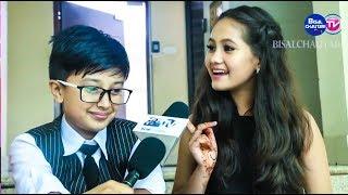 FUNNY GAME 😀 || Anubhav Regmi And Sedrina Sharma Interview - bisalchautari tv