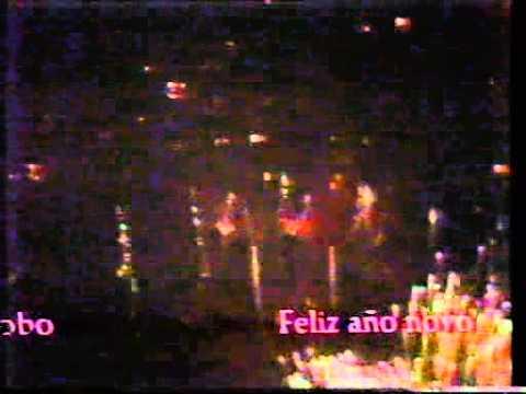 Veronica - klok & vuurwerk, bumper en aankondiging Marijke Benkhard (1985-1986)