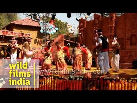 Assamese Folk Dancers Perform Bihu Dance video