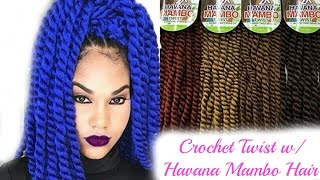Crochet Hair Tutorial For Beginners : Havana Mambo Twist Crochet ( Detailed Tutorial ). ????? ?? ...