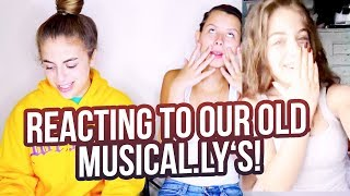 REACTING TO OUR OLD MUSICAL.LY'S... ft. Arii