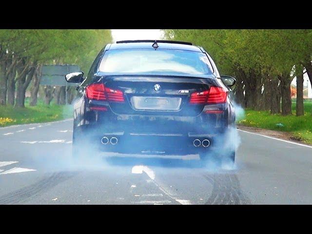 BMW M5 F10 Sound V8 Biturbo Acceleration Tire Smoke ...