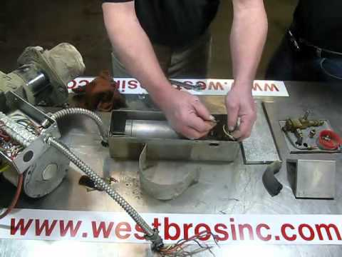 #5 Waste oil heater service / repair Reznor burner disassembly