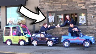 TOY CARS IN THE DRIVE THRU!