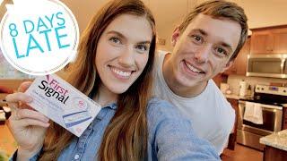 LIVE PREGNANCY TEST | I'M 8 DAYS LATE