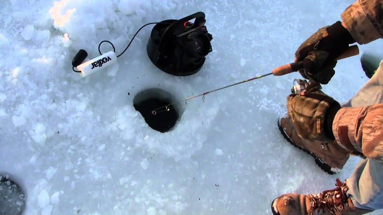 Ice fishing using a flasher to catch a crappie youtube for Ice fishing flasher