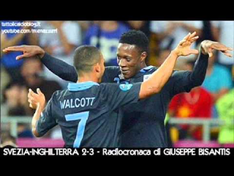SVEZIA-INGHILTERRA 2-3 – Radiocronaca di Giuseppe Bisantis – EURO 2012 su Radiouno RAI