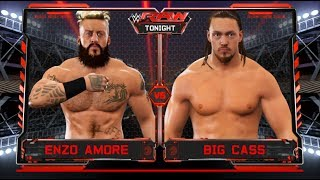 WWE 2K17 -Big Cass vs Enzo Amore -One On One  Match- On RAW for the first time 2017 (PS4)