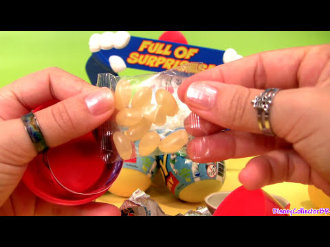6 Kinder Toy Surprise Easter Eggs Disney Pixar CARS 2 & Toy Story review Unwrapping toys Chocolate