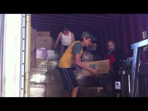 Christian Resources International - Loading a Sea Container with Bibles & Teaching Tools