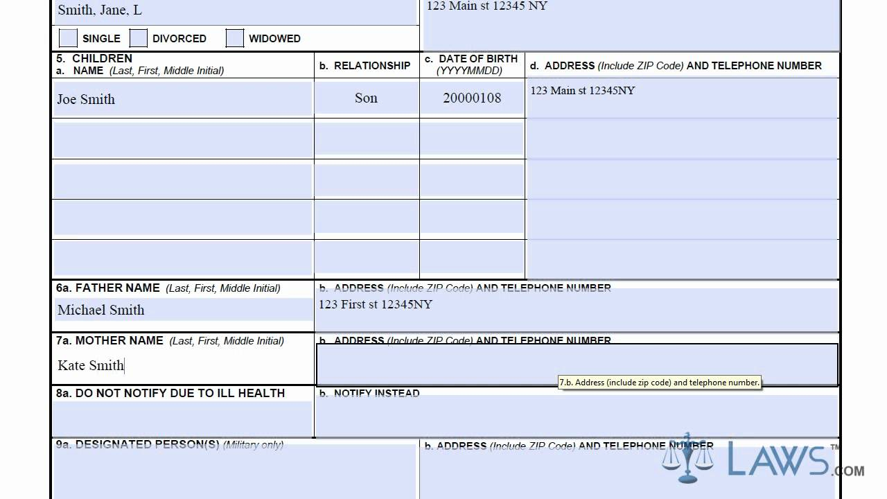 Learn How To Fill The Dd Form 93 Record Of Emergency Data