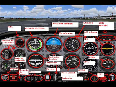 Clases de vuelo con Loquendo 1er sesión (Introducción a la cabina del cessna 172)