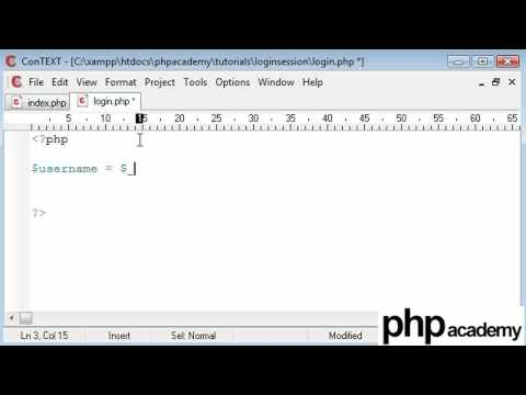 PHP Tutorials: Register & Login: User login (Part 1)