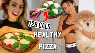 HEALTHY & EASY Homemade Pizza! low-carb, high protein