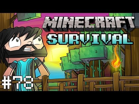 Minecraft : Survival Lets Play w Thinknoodles Part 78 Enchanting + Nether Rail Extension