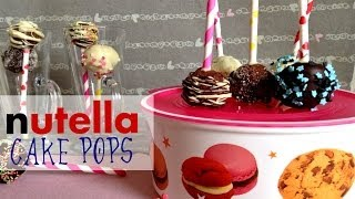 ✿ NUTELLA CAKE POPS | How to make cake pops | It